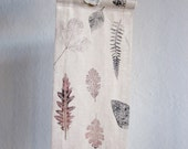 Wall Hanging - Hand stamped fabric, OOAK