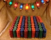 4 color  Patio, RV, Shot gun shell christmas light kit 100 shells