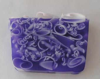 Soap Loaf  - Black Raspberry Vanilla - One Pound Glycerin - Purple Soap Loaves