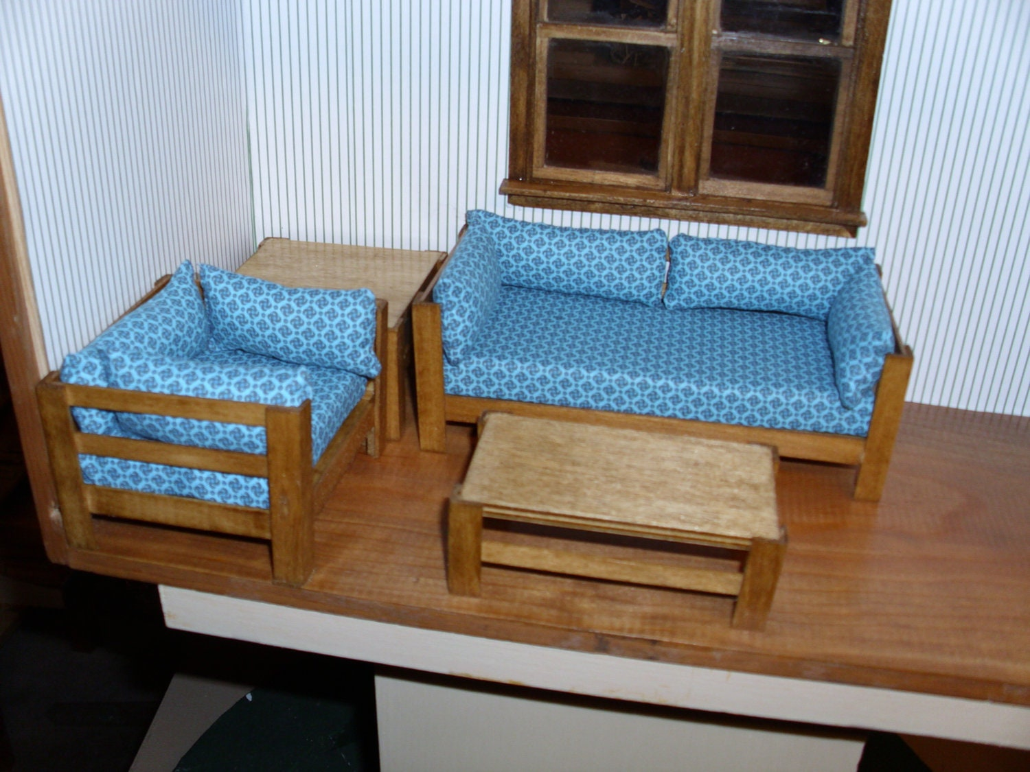 Hand made mission style living room set 4 pcs by ricksminiatures