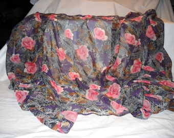 3 Yards Of Vintage Muslim Crepe Chiffon Fabric