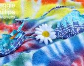 Tie Dye Woodstock Still Life with Bikini and Daisy