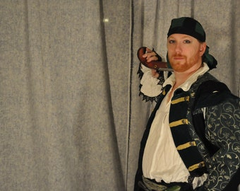 Renaissance Pirate Costume Cosplay Coat