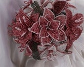 French beaded lily bouquet
