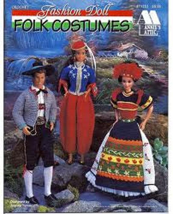 Annie Attic Fashion Doll Folk Costumes