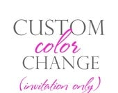 CUSTOM COLOR for any Invitation or Thank You from The Celebration Shoppe