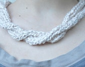 """Custom Made to Order Knit """"Pearl"""" Necklace, knit rope necklace"""