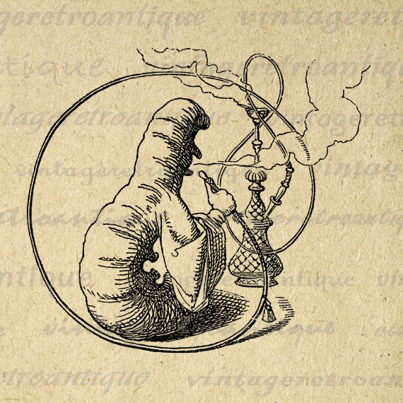 vintage clip art alice in wonderland - photo #40