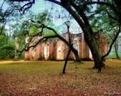 Sheldon Church, Yemassee, South Carolina (12 x 16 canvas)