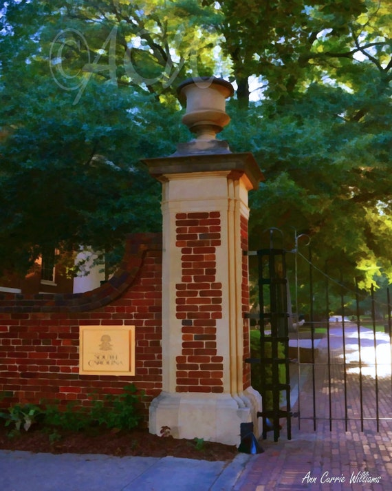 Historic Horseshoe's Gate at the University of South Carolina'  in Columbia (canvas)