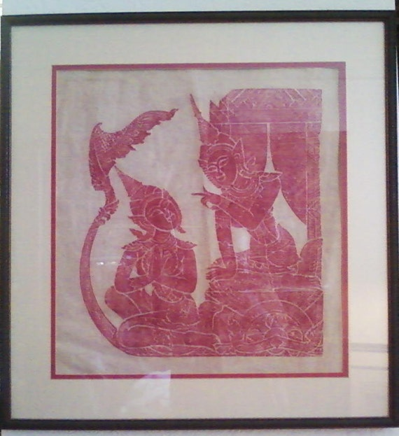 Framed Art Batik Design From Indonesia By EdsWarehouse On Etsy