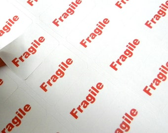 32 Fragile Stickers - Rectangle