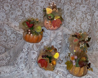 Small Pumpkin-Decorated Pumpkin-Fall,Autumn,Thanksgiving Arrangement,Decoration,Centerpiece