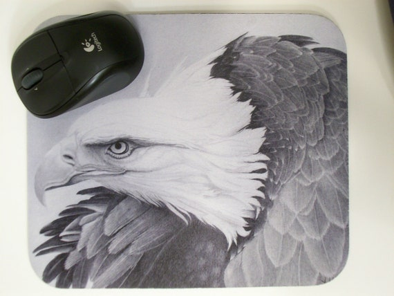 Eagle Drawing Mouse Pad