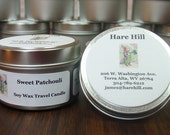 Sweet Pathcouli Scented Soy Wax Travel Candle