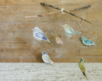 Branch and Twine Bird Mobile