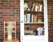 Vintage Door Repurposed  Bookshelf- Breezy Linen (Shelf 010)