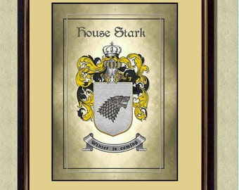 HOUSE STARK Coat of Arms - Game of Thrones Poster - Quote Art Print