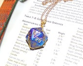 Custom Hand Wire Wrapped D20 Pendant