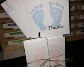 8 count 3x3 Baby Thank You Cards with Envelopes