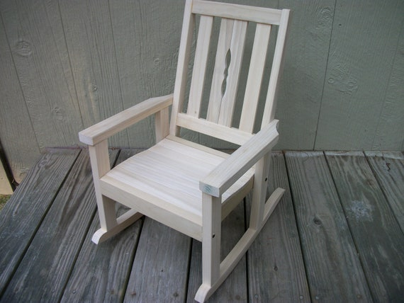 Child S Poplar Rocking Chair Unfinished By Clemswshop On Etsy