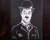"Charlie Chaplin is a Limited Edition  10""x13"", numbered Print of Original Art by artist Charles Freeman"