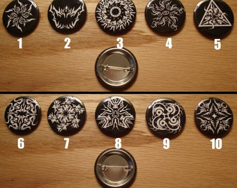 "Geometric Edge 1.25 ""Graphic Button Set (5 Buttons)"