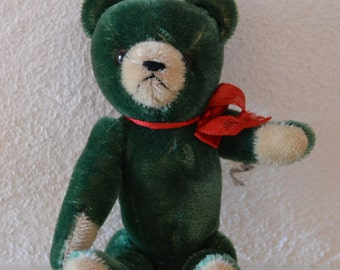Green Mohair Teddy Bear (c.1960's)