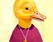 Digital Print Illustration Print Art Poster Acrylic Painting Kids Decor Drawing Illustration Gift : Darling Duckling