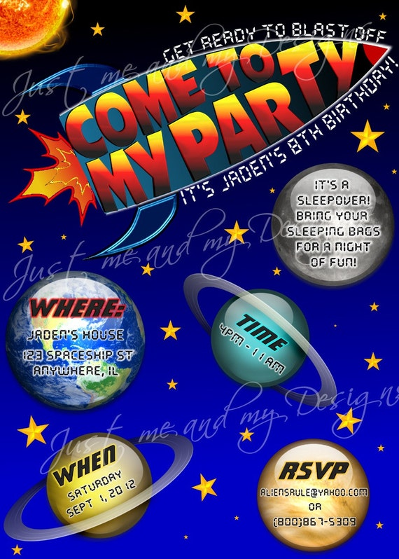 il_570xN.399351768_t2d7 space theme with planets rocket personalized printable,Space Birthday Party Invitations