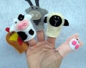 Farm Animal Felt Finger Puppets