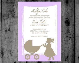 Big Sister Baby Shower Printable Invitation