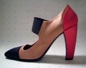 PRADA shoes - pastel pink, hot pink, & black color block