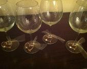 8 Custom Heart Wine Charms, Wedding Favors, Wedding Wine Charms