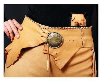 Leather Handmade Belt One Of A Kind Southwestern Style