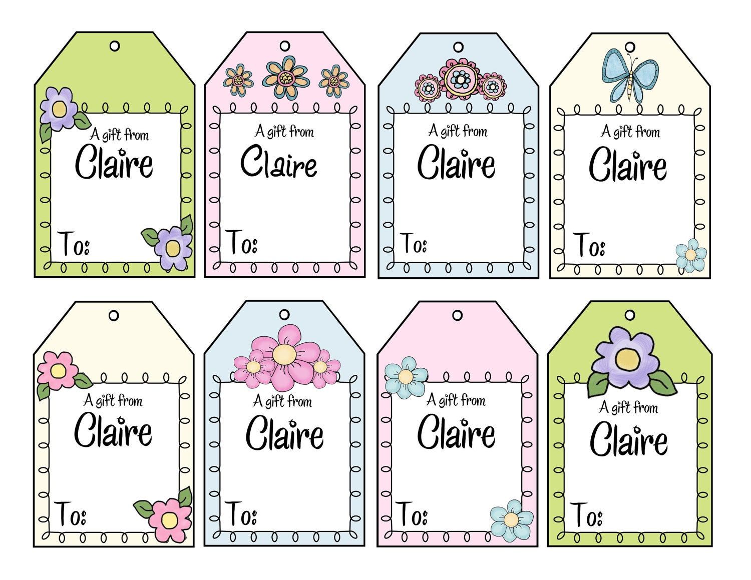 Printable personalized im a girl gift tags personalized girly 600 free shipping negle