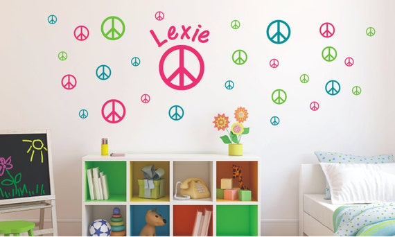 Peace Sign Bedroom Accessories: Items Similar To Peace Sign Vinyl Decal