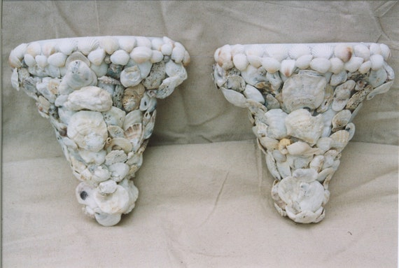 Pair of Seashell Wall Sconces