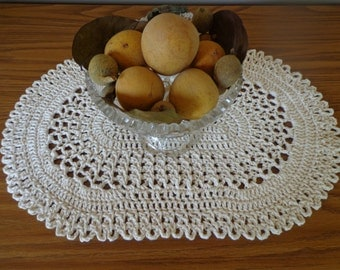 Oval  Lacy Place Mat or Table Center Piece Doily
