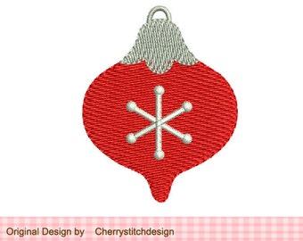 Christmas Ornament  Mini Filled Stitches Machine Embroidery Design