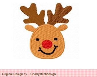 Reindeer Mini Filled Stitches Machine Embroidery Design