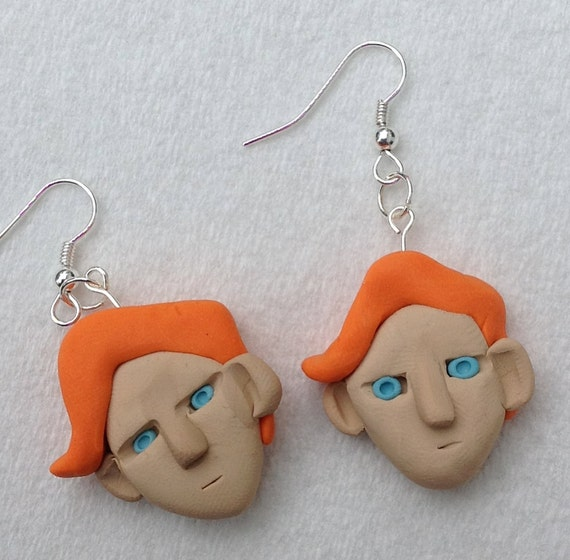 unofficial CONAN (and his evil twin) Earrings