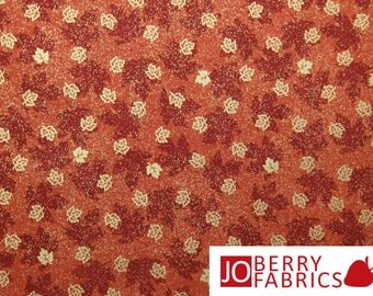 Harvest Splendor Small Gold Leaves by VIP Fabrics