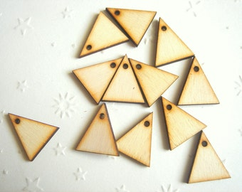 10  Wood Triangles Ready to be Painted, Unfinished Wood Triangles Tile for Jewelry,Geometric Jewelry, wood Triangles