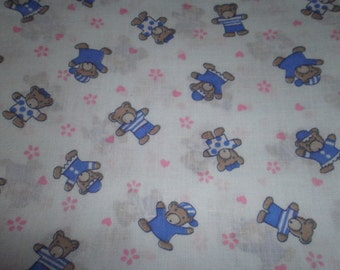 Baby Bear Print Fabric - (Sold by the half yard)