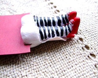 Wedding bookmark- Wicked witch bookmark- Red shoes bookmark- Wedding decoration- Halloween decoration- Gift- free shipping