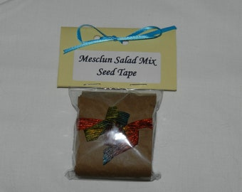 Mesclun Salad Mix Seed Tape