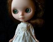 Blythe Dress - Prairie Dress Boho Style, Ivory and Lace