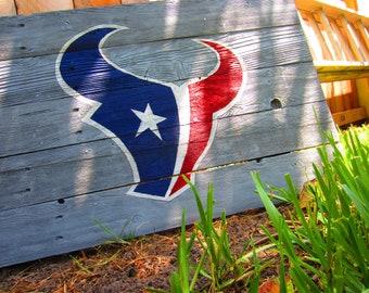 Houston Texans Rustic Sign