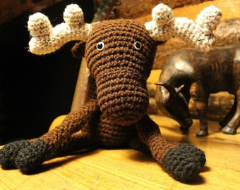 Big Chocolate Moose -handmade crochet, made to order